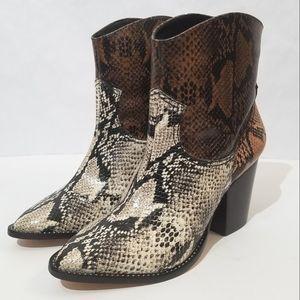 Schutz Haven snakeskin cowboy boots